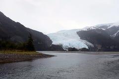 Der Aguila-Gletscher im südlichen Patagonia Lizenzfreies Stockbild