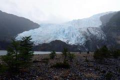 Der Aguila-Gletscher im südlichen Patagonia Stockbild