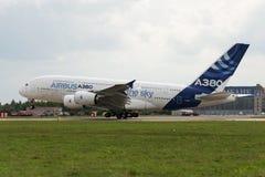 Der Airbus A380 Stockbild