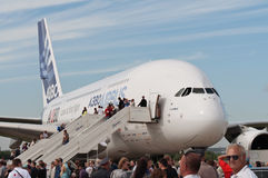 Der Airbus A380 Stockfotos