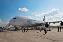 Der Airbus A380 Lizenzfreies Stockfoto