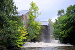 Der Akerselva-Fluss, Oslo, Norwegen Lizenzfreie Stockbilder