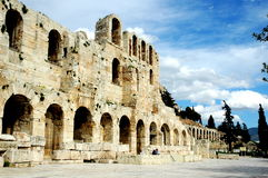 An der Akropolise in Athen Stockbild