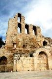 An der Akropolise in Athen Lizenzfreies Stockbild