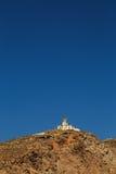 Der Akrotiri-Leuchtturm in Santorini Stockfotografie
