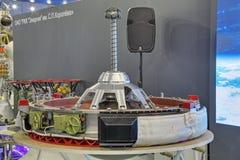 Der aktive Ankern Zusammenbau des modernen Transportraumschiffes Lizenzfreie Stockfotos
