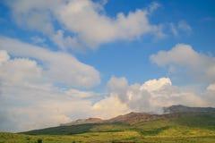 Der aktive Vulkan - der Aso Stockfoto