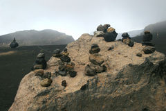 Der aktive Vulkan - der Aso Stockbild