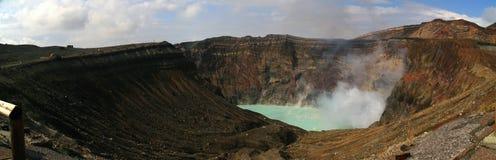 Der aktive Vulkan - der Aso Stockbilder