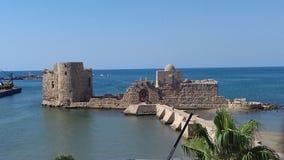 Der Al-Qualaa saida Libanon-Schloss Stockbild