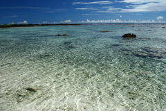 Der Alabasterstrand in Samoa-Inseln, South Pacific Stockbilder