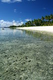 Der Alabasterstrand in Samoa-Inseln, South Pacific Lizenzfreie Stockbilder