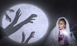 Der Albtraum des Kindes Stockbilder