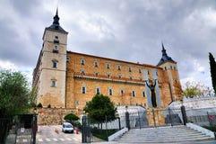 Monument am Alcazar von Toledo Stockbilder