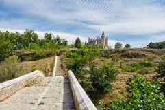 Der Alcazar von Segovia Spanien Stockbilder