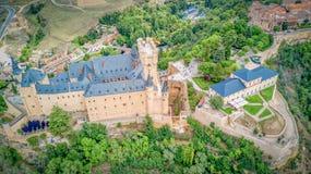 Der Alcazar von Segovia, Spanien Stockbild
