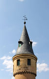 Der Alcazar von Segovia, Spanien, Detail eines Turms Stockfotos
