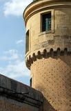 Der Alcazar von Segovia, Spanien, Detail eines Turms Stockbild
