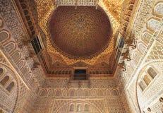 Der Alcazar von Sevilla-Innenraum, Spanien Lizenzfreie Stockfotos