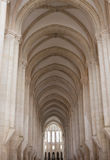Der Alcobaca-Klosterinnenraum Stockfoto
