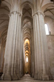 Der Alcobaca-Klosterinnenraum Stockfotografie