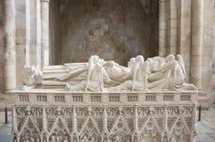 Der Alcobaca-Klosterinnenraum Stockbilder