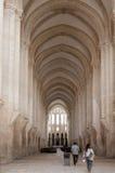 Der Alcobaca-Klosterinnenraum Stockbild