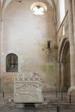 Der Alcobaca-Klosterinnenraum Stockfotos