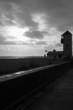 Der Aldeburgh-Strand-Südausblick Stockfoto