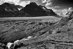Der Aletsch Gletscher Lizenzfreies Stockbild