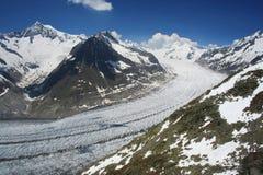 Der Aletsch Gletscher Stockfotografie