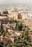 Der Alhambra in Granada Lizenzfreies Stockfoto