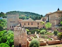 Der Alhambra in Granada, Andalusien, Spanien Lizenzfreie Stockfotografie