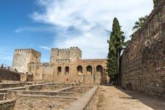 Der Alhambra in Granada, Spanien Lizenzfreie Stockfotos