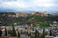 Der Alhambra-Palast, Granada, Spanien Lizenzfreies Stockfoto
