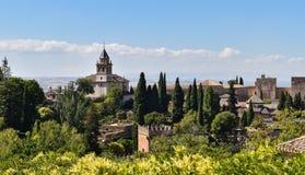 Der Alhambra-Palast- und -festungskomplex, Granada, Spanien Lizenzfreies Stockfoto