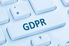 Der allgemeine Daten-Schutz-Regelung E GDPR websit der Europäischen Gemeinschaft. - Stockfoto