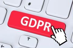 Der allgemeine Daten-Schutz-Regelung E GDPR websit der Europäischen Gemeinschaft. - Lizenzfreies Stockfoto