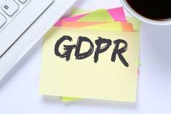 Der allgemeine Daten-Schutz-Regelung E GDPR websit der Europäischen Gemeinschaft. - Lizenzfreie Stockbilder