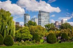 Der allgemeine Garten und die Gebäude in Boston, Massachusetts Lizenzfreie Stockfotos