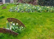 Der allgemeine Park des Frühlinges in Blois-Stadt (Frankreich) Lizenzfreies Stockfoto
