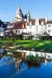 Der allgemeine Park des Frühlinges in Loches-Stadt (Frankreich) Lizenzfreies Stockfoto