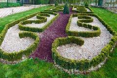 Der allgemeine Park des Frühlinges in Loches-Stadt (Frankreich) Stockfoto