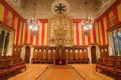 Der allgemeine Raum in Cityhall von Barcelona Lizenzfreie Stockbilder