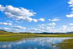 Der allgemeine See in WulanBu alles alte Schlachtfeld der Wiese Stockbilder