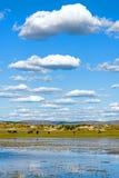 Der allgemeine See in WulanBu alles alte Schlachtfeld der Wiese Lizenzfreie Stockbilder