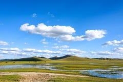 Der allgemeine See in WulanBu alles alte Schlachtfeld der Wiese Lizenzfreie Stockfotos