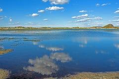 Der allgemeine See in WulanBu alles alte Schlachtfeld der Wiese Stockfotos