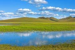 Der allgemeine See in WulanBu alles alte Schlachtfeld der Wiese Stockfoto