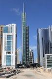 Der Almas Kontrollturm in Dubai Stockfotos
